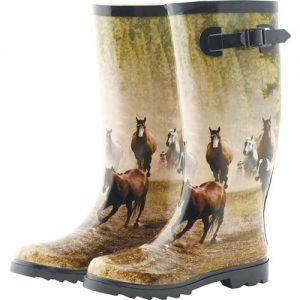 Boty gumové-motiv koní