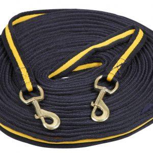 Kerbl Lonž SOFT dvojitá modro, žlutá 2velké karabiny 17m dlouhá