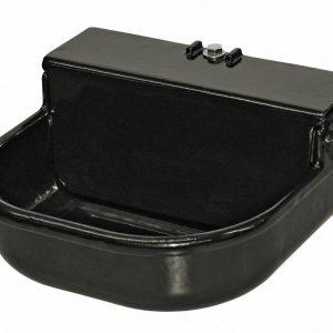 Napaječka s plovákovým ventilem, emailovaná, velká, černá