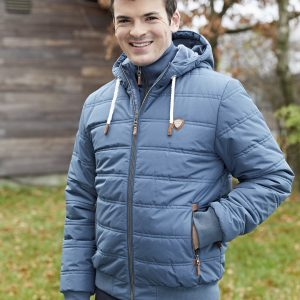 Kerbl Pánská zimní bunda Fero, kouřově modrá