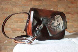 Kožená kabelka s motivem koně