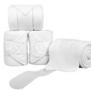 Bandáže fleece HKM 4ks bílé