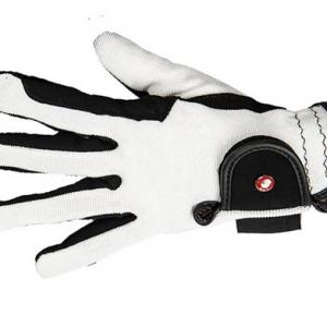 Jezdecké rukavice HKM – bílé