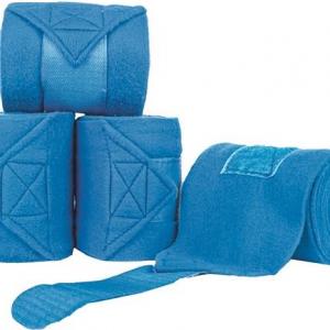 Bandáže fleece HKM 4ks royal blau