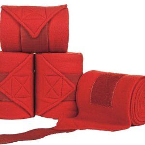 Bandáže fleece HKM 4ks červené
