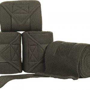 Bandáže fleece HKM 4ks černé