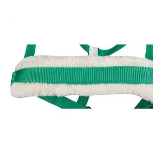 Ohlávka HKM podložená beránkem zelená