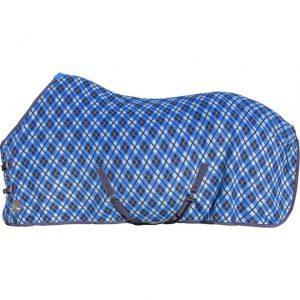 Deka odpocovací HKM dvojitý fleece blue/black