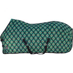 Deka odpocovací HKM dvojitý fleece green/black