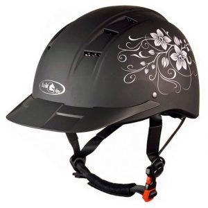 Jezdecká přilba ELF Floral matná černá