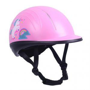 Jezdecká dětská přilba QHP růžová