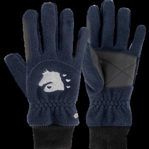Dětské jezdecké rukavice Lucky Giselle modré